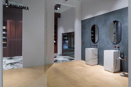 Dinamika, superfici tridimensionali a Cersaie2021 DSC01924_Delconca - Ceramica del Conca