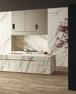 Luxury and nature: a new blend Del%20Conca_Ambienti%20Cersaie%202019_01%20Cucina_Definitivo - Ceramica del Conca