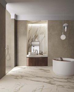 Luxury and nature: a new blend Del%20Conca_Ambienti%20Cersaie%202019_02%20Bagno_Definitivo-2 - Ceramica del Conca