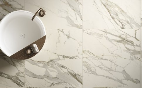 Luxury and nature: a new blend Del%20Conca_Ambienti%20Cersaie%202019_02_Bagno_Particolare%20B_Definitivo - Ceramica del Conca