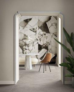 Effetto marmo, onice, cemento, legno. Del%20Conca_Ambienti%20Cersaie%202019_07%20Ingresso%20ADV_Definitivo - Ceramica del Conca