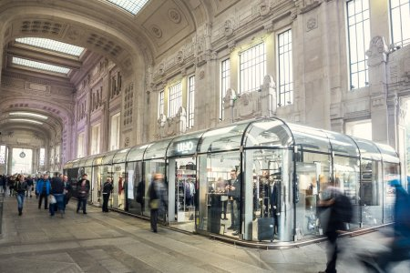 Del Conca e Giugiaro Architettura nella Stazione Centrale di Milano GALELRIA%20DELLE%20CARROZZE.JPG%20(7) - Ceramica del Conca