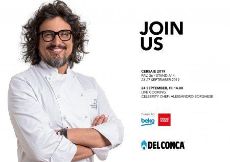 Live cooking dello chef Alessandro Borghese a Cersaie 2019 Del%20Conca%20invito%20Cersaie%202019_Borghese - Ceramica del Conca